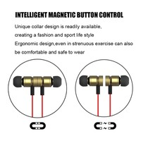High Quality earphone with magnetic, bluetooth 4.1 CSR, with hook