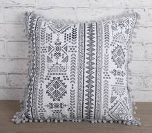 printing Recycled cotton cushion