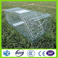 2016 HOT Assembled galvanized Catch and Release one door easy set pest relocation trap Intruder trap cage 2-Piece Value Pack