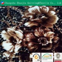 Zhaojia Wholesale high-quality elastic polyester microfiber print velour fabric for a variety of purposes