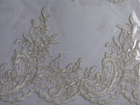 2015 Bridal Voile Wedding Dress Lace Trim/TOP10 FABRIC MANUFACTURER embroidery trimming guipure lace/ Fabric Type lace trim
