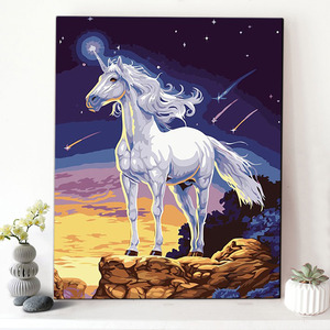 CHENISTORY DZ1684 Oil Painting By Numbers Abstract Pegasus Meteor For Wholesale On Canvas With Wood Frame