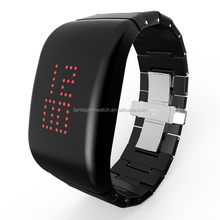 ABS High-grade Explosion - proof LED Black Watch with Stainless Steel butterfly Shape Clasp