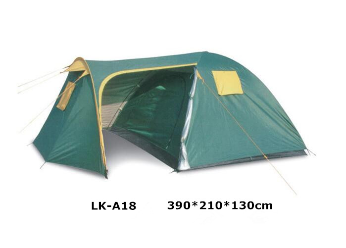 LK-A18 3-4 person camping tent family one room one hall