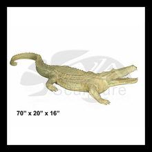 High quality hand made old thai solid bronze sculpture crocodile art deco