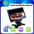 "3-way video input 7 "" inch car video monitors/car tft lcd monitor"