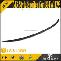 Black FRP M3 Style 3-Series E93 Rear Spoilers For BMW E93 Convertible 325 328 330 335