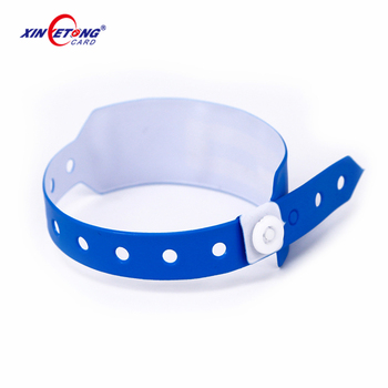 Custom Printing ISO14443A / ISO14443B RFID Disposable NFC Wristband PVC Wristband for Hospital