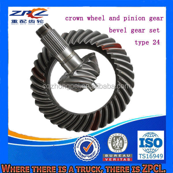 Various Gear Lapping Truck Steel Bevel Gear Set & Crown Wheel and Pinion Gear ( For Mercedes, Benz, Steyr, Volvo, DAF, Howo etc)