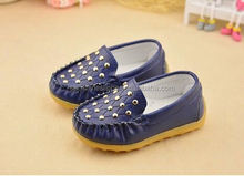 New design flat fashion dress baby leather casual school shoes for boys