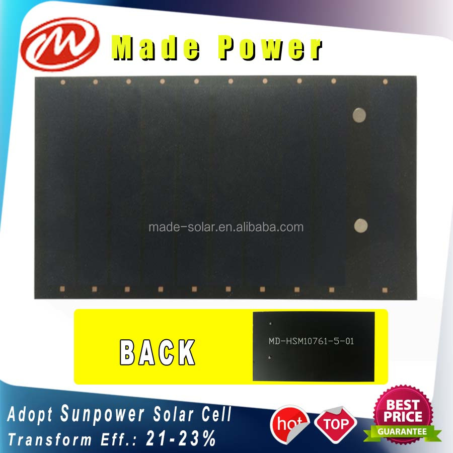 Manufacturer 0.8Wp 5v low power Sunpower small solar panels