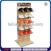 TSD-W127 Custom double side floor hat wood slatwall display/shop fitting and store fixtures/high quality shop display stand