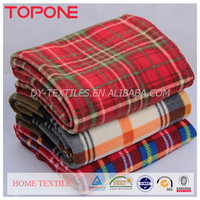 2015 Plaid Fabric 100% Polyester Many Types of Polar Blanket