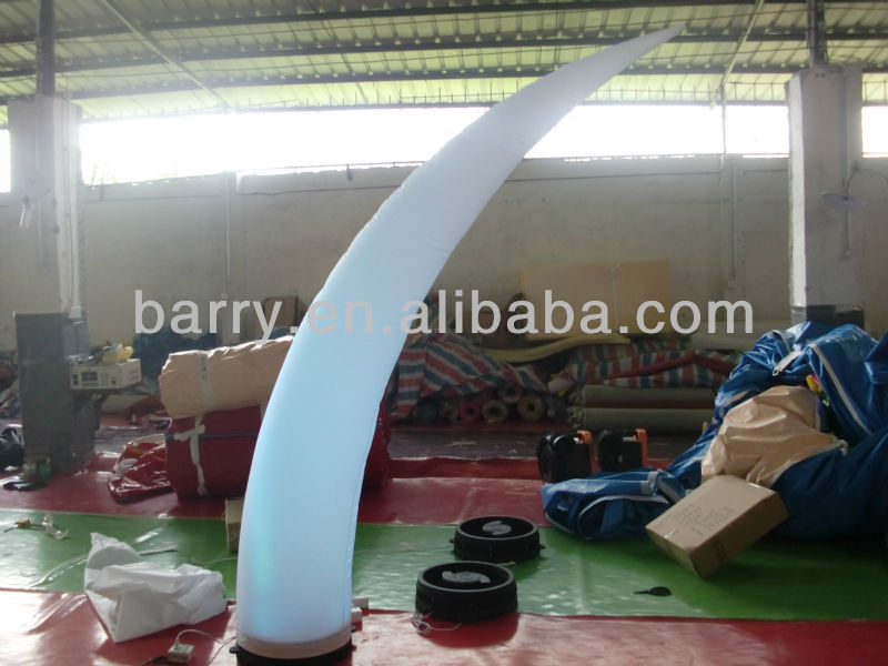 2013 hot nice lighting inflatable wedding ivory,inflatable wedding arch/tunnel for sale