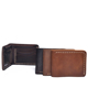 YD-1016 Crazy Horse Leather Men's Leisure Biofold Purse with Card Holder