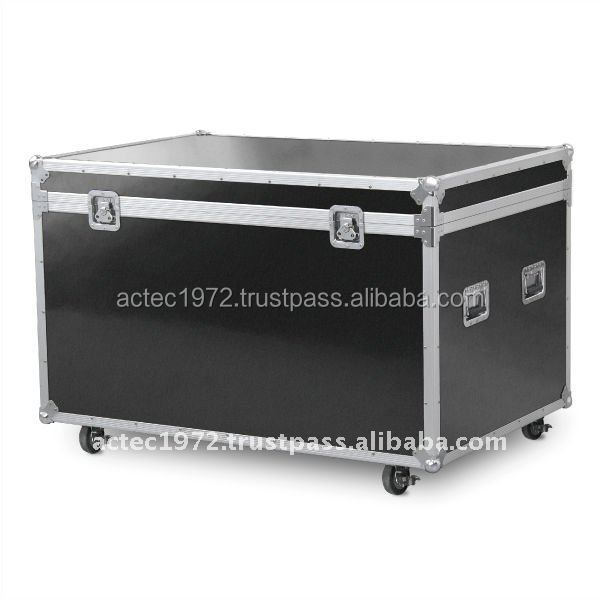 Aluminum display storage box case container desk