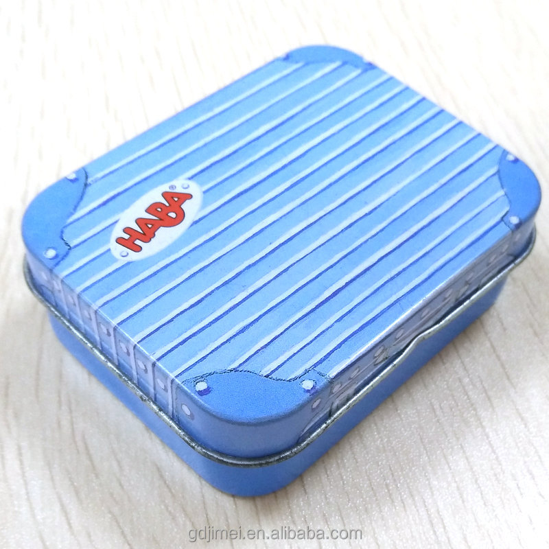 small rectangular mints candy tin 22mm height