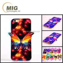 3D mobile phone case for iphone 6s buttery style beautiful wings cell phone case cover for iphone 6s 6 plus for samsung s6 s5 s4