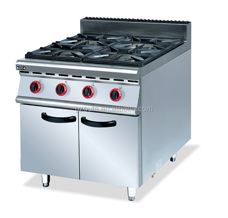 gas range stove with 4 burners with cabinet free standing