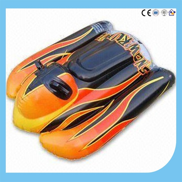 Hot sale inflatable snow sled tube, plastic snow tube, inflatable snow sled tubing