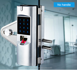Waterproof outdoor digital fingerprint Frameless biometric glass door electronic safe lock