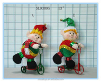 Festival china elf doll on trike for Christmas