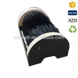 Durable shoe cleaning brush, flexible boot scrubber, wood boot brush
