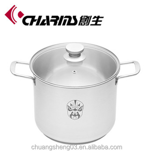 High quality induction cooking stainless steel casserole