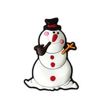 Home decor custom pvc snowman christmas fridge magnet