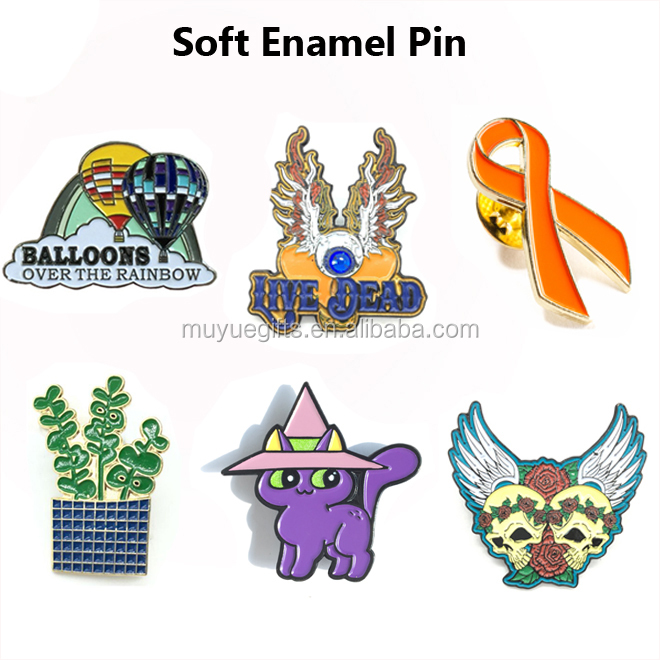 Wholesale cheap custom soft enamel with epoxy pin badge