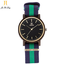 Nylon Strap Wholesale Fashion Wooden Cace Watches Nylon Strap Quartz Natural Vogue Watch High Quality