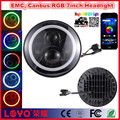 2017 New 45W round 7inch RGB jeep LED headlight with DRL turning function