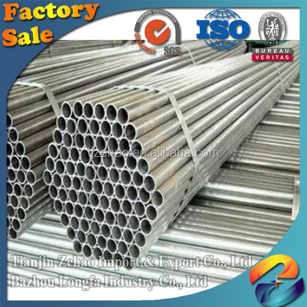 electrical wire conduit hot galvanized steel pipe/tube for fence with 80g