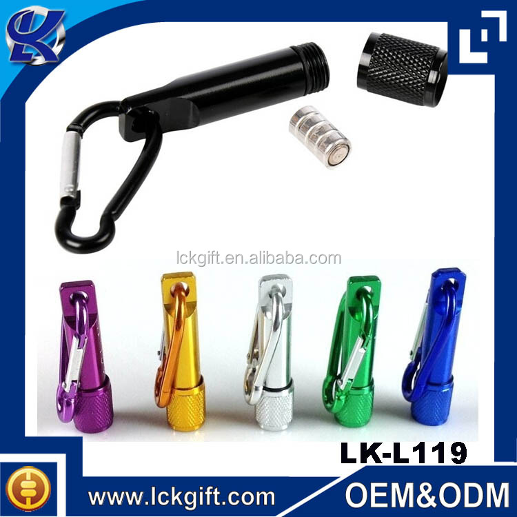 Carabiner Keyring Mini Led Torch with Custom Logo