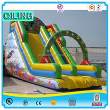 china newest big commercial party use kids inflatables winter theme snow man three lanes dry slides for festival for sale