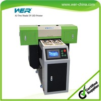 a2 uv printer cd label printer with LCD touch screen/ball screw drive system/vacuum suction platform crystal printer