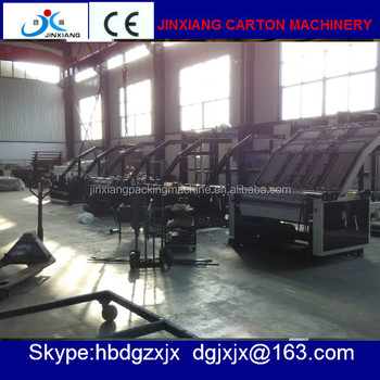 High speed pizza carton box automatic flute laminator machines