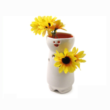 Decorative White Ceramic Cheap Bud Vases