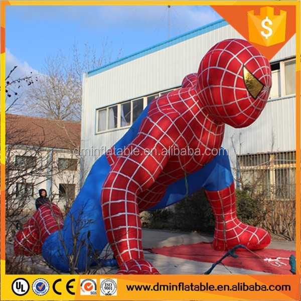 Outdoor Giant Inflatable figures Inflatable Spiderman for Advertising