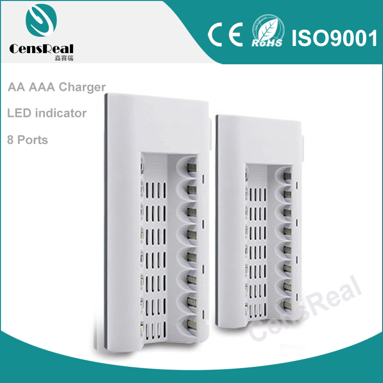 1.2V DC 800mA digital 8 port NI-MH AA AAA rechargeable battery charger