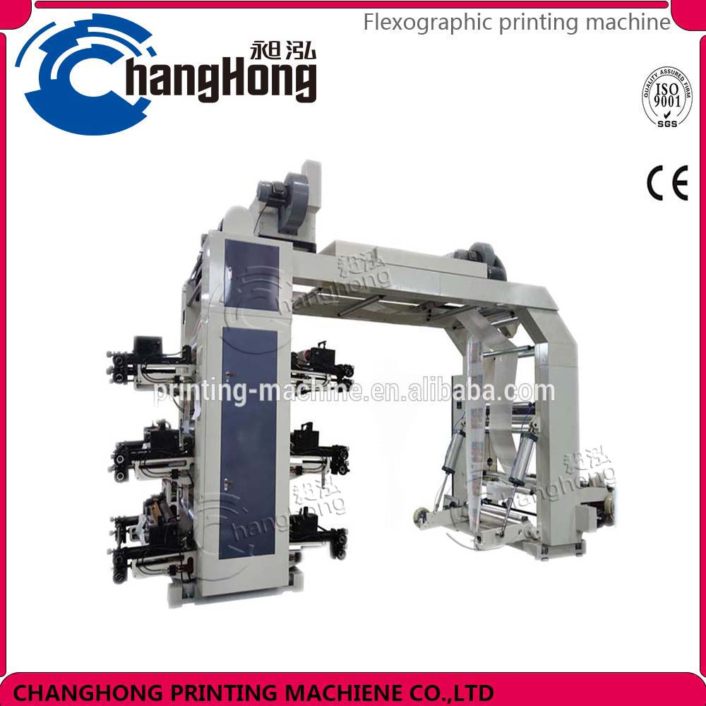Changhong brand 6 colors Bag Plastic Flexographic Printing Machine