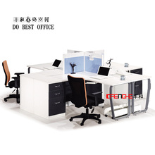 Commercial office furniutre wooden curve office table aluminum partition