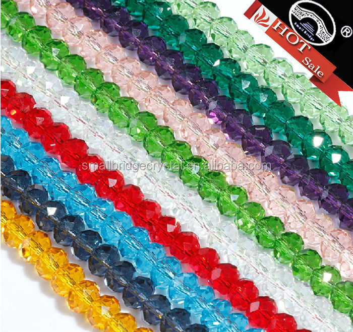 Pujiang Factory 6mm Jewelry Making Rondelle Glass Beads
