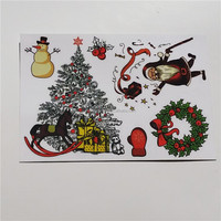 Christmas tree design tattoo sticker, temporary tattoo, tattoo supply for window decoration