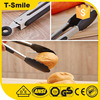 Food grade BBQ tools promotional silicone kitchen tong clips for clip frame