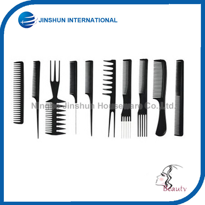 10 PCS Set Professional Cheap Price Plastic Comb Convenient Hair Comb