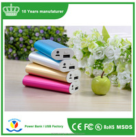 2017 trending products alloy power banks magic stick 18650*2 mini portable charger 3000mah