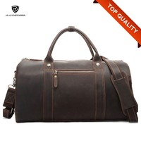 China Guangzhou Cheap Genuine/Crazy Horse Leather Travel/Luggage/Duffle Bags