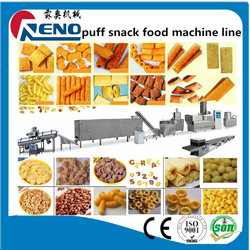Cereal breakfast puffed corn flakes machine