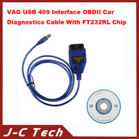 VAG USB 409 Interface OBDII Car Diagnostics Cable With FT232RL Chip